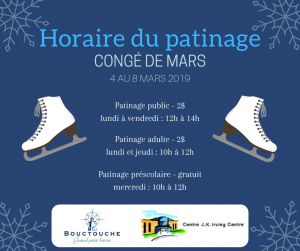 Patinage - Congé de mars 2019