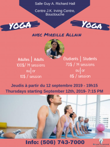 Yoga communautaire @ Salle Guy A. Richard