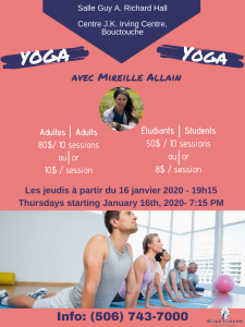 Sessions de yoga @ Salle Guy A. Richard